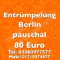 Berlin Sperrmüllabholungen pauschal 80 Euro